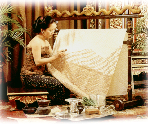 batik canting handprint